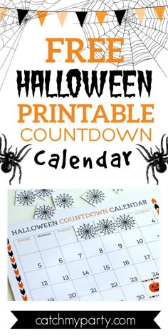 We've created this cute FREE Halloween printable countdown calendar for October, so you and your kids can easily see how quickly Halloween is coming. It's perfect for families and teachers so you can build up the Halloween excitement in your house. See more party ideas and share yours at CatchMyParty.com #catchmyparty #partyideas #freeprintable #halloweencountdowncalendar #printablehalloweencountdowncalendar Halloween Countdown, Halloween Printable, Halloween Party Favors, Halloween Celebration, Free Baby Shower Printables, Party Printables, Free Printables, Countdown Calendar, Halloween Activities