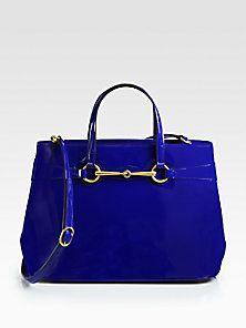 Gucci - Bright Bit Medium Patent Leather Tote