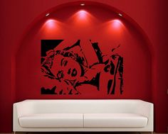 Marilyn Monroe Vinyl Wall Decal Image by CuttinUpCustomDieCut, $36.00