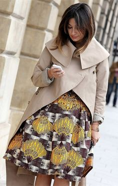 @stellajeanlltd skirt, street fashion, paris fashion week, vogue