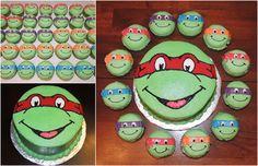 Ninja Turtle cupcakes and smash cake