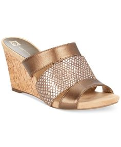 Anne Klein Loopy Wedge Sandals