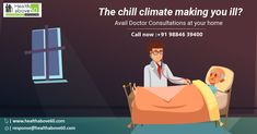 Its so cool out there and eventually you are prone to Joint pains. Avail the consultations at home and get the right treatment. For service call us at 98846 Doctor On Call, Good Doctor, Chennai, Health Care, Fictional Characters, Fantasy Characters, Health