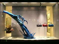 let's paint the town blue, pinned by Ton van der Veer Retail Windows, Store Windows, Electronic Kits, Shop Fronts, Window Dressings, Window Design, Visual Merchandising, Stores, Store Design