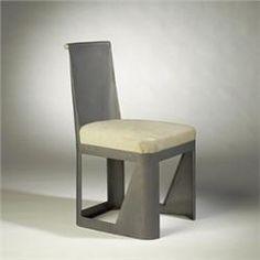 Rene Prou, Folded Sheet Steel Side Chair for Labormetal, 1931.