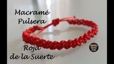 DIY TUTORIAL Macramé Pulsera Roja de la Suerte/ Red Lucky Bracelet