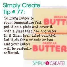 Delicious baking tips and tricks can be found at http://simplycreate.com.