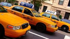 New York City Taxis- watch out the yellow ones don't stop!