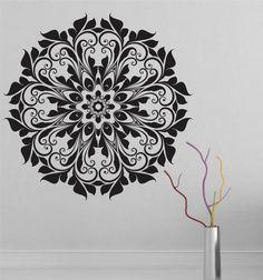 Mandala Wall Decal sticker Yoga Om Namaste Yoga by VandyVinyl