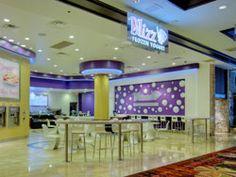 Blizz Frozen Yogurt Where we had breakfast every morning in Vegas! This exact location!