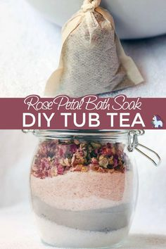 Rose Petal Bath Soak - DIY Tub Tea Bags DIY tub teas -- it's a bath soak minus the mess! Great for homemade gifts, wedding showers, or for your own self-care. Diy Tea Bags, Essential Oils, Nails Polish, Manicure Y Pedicure, Diy Spa, Bath Salts, Rose Petals, Rose Petal Uses, Packaging