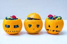 Make these Creative Orange filled Jack O'Lanterns for Halloween!   Clean Food Crush