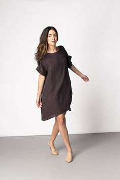 Georgia Dress - use Lou Box Top pattern but go up 2 sizes