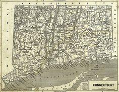Hartford Connecticut Map - 1640 | Connecticut | Pinterest | Hartford ...