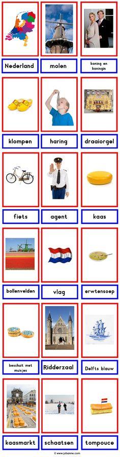 Woordkaarten : Nederland
