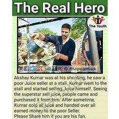 Real Hero for a Reason... #Akshay Kumar#bollywood #star #khiladi #b2m #Bhopali2much #Instagram #pictures