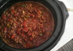 Crock Pot Chili (easy) Recipe -  Very Tasty Food. Let's make it!