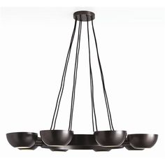 Sorrel 8L Iron/Glass Chandelier
