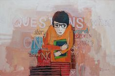 """Written silence"", 2011, painting by Vane Kosturanov."