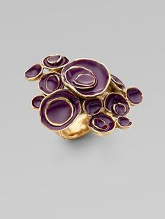 Arty Flower Ring from @YSL.