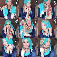 Printed hijabs are gorgeous for this season as they gather many colors and can be combined to the rest of the outfit very easily, Check out how beautiful this printed scarf looks like, with this blue color you have a…