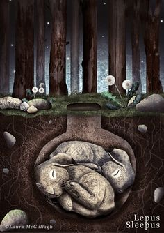 lepus sleepus Up Animation, Beautiful Fantasy Art, Rabbit Art, Comic, Woodland Creatures, Cool Posters, Cute Illustration, Art Lessons, Art Projects