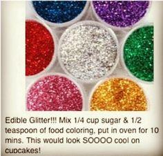 Edible glitter diy sugar and food coloring