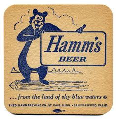 from the land of sky blue waters Vintage Advertisements, Vintage Ads, Vintage Prints, Sous Bock, Beer Mats, Beer Coasters, Beer Signs, Brewing Co, The Good Old Days