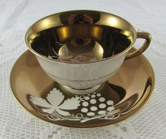 Gray's Pottery Lustreware Vintage Tea Cup and Saucer