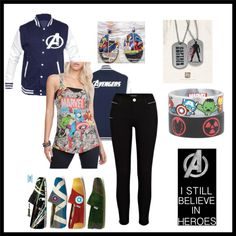 """I still beleive in superheroes"" by redneckgirl-713 on Polyvore"