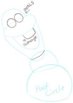 How to Draw Olaf the Snowman from Frozen with Easy Steps Tutorial - How to Draw Step by Step Drawing Tutorials Easy Canvas Painting, Diy Canvas, Canvas Paintings, Canvas Ideas, Frozen Snowman, Olaf Frozen, Frozen Canvas, Frozen Tea Party, Olaf Drawing