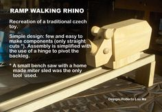 The Automata Blog: Free plans for a ramp-walking wooden rhino toy