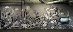 Qurius - Wall Dizzy - Street Art Illustration 1