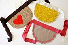 A homemade apron made of placemats is fun project to do with your crafty caner who also loves to help in the kitchen.  TUTORIAL: Placemat Aprons | MADE