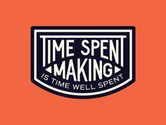 Time Well Spent by Alejandro Rodriguez Graphic Design Fonts, Lettering Design, Graphic Design Illustration, Coffee Shop Logo, Isometric Design, Retro Logos, Badge Design, Vintage Typography, Design Reference