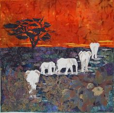 Secret of the White Elephants - created by PiecedArtQuilts on the Quilting Board