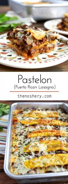 Business Cookware Ought To Be Sturdy And Sensible Pastelon Layers Of Ripe Sweet Plantains, Savory Meat Filling And Cheese Puerto Rican Recipes, Cuban Recipes, Boricua Recipes, Lamb Recipes, Entree Recipes, Plaintain Lasagna, Spanish Dishes, Spanish Food, Spanish Meals