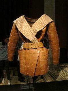 Azzedine Alaia brown leather jacket