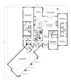 Floor Plan First Story. I would make the Atrium an office.