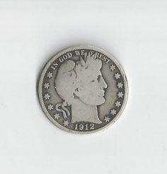 1912D Barber Half Dollar by COLLECTORSCENTER on Etsy