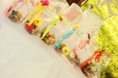fairy homes...(favors to take with each child from mason jars, could be craft project)