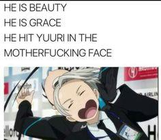 HE HIT YUURI IN THE MOTHERFUCKING FACE