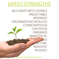 Elements Earth:  #Earth ~ The Four Elements of Success™ Character Strengths and Challenges: Earth Strengths.