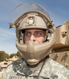 The Helmet and Electronics and Display System-Upgradeable Protection, or HeADS-UP program, at Natick Soldier Research, Development and Engineering Center, seeks to provide better headgear for Soldiers and Marines.