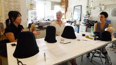 I taught a freeform hat blocking workshop at my friend Jane D'Arensbourg's jewelry studio in May 2011. You start out with a pre-formed cone of fur felt. http://jasminzorlu.blogspot.com/2011/05/jane-darensbourg-hosts-freeform-hat.html