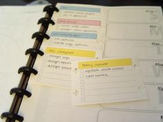 Task cards. Love this idea! - Great idea to use for projects with multiple steps, GTD style.