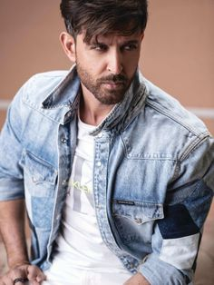 Check out Hrithik's dashing look on the cover of Mans World India magazine Bollywood Actors, Bollywood Celebrities, Hrithik Roshan Hairstyle, Hero Poster, Bend It Like Beckham, Indian Men Fashion, Mens Fashion, Bollywood Pictures, Sr K