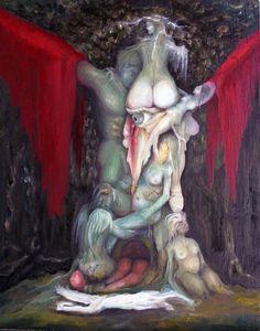 """""""Wald der Lust"""" ein erot.Ölgemälde des Künstlers Ralf Czekalla aus Glashütte in Sachsen, Kunstwerk befindet sich in privater Sammlung"""