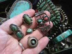 New pieces to be added to my collection of vintage / antique Native American - mostly Navajo - sterling silver, turquoise & coral jewelry. The collection of Stephen Parfitt, Springfield, Illinois.