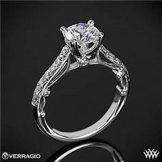 Verragio Bead-Set Cathedral Diamond Engagement Ring